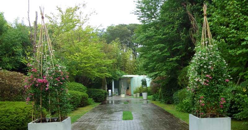 クレマチスの丘は9月も見頃! 雨の中、二番花を楽しむ花散歩♪
