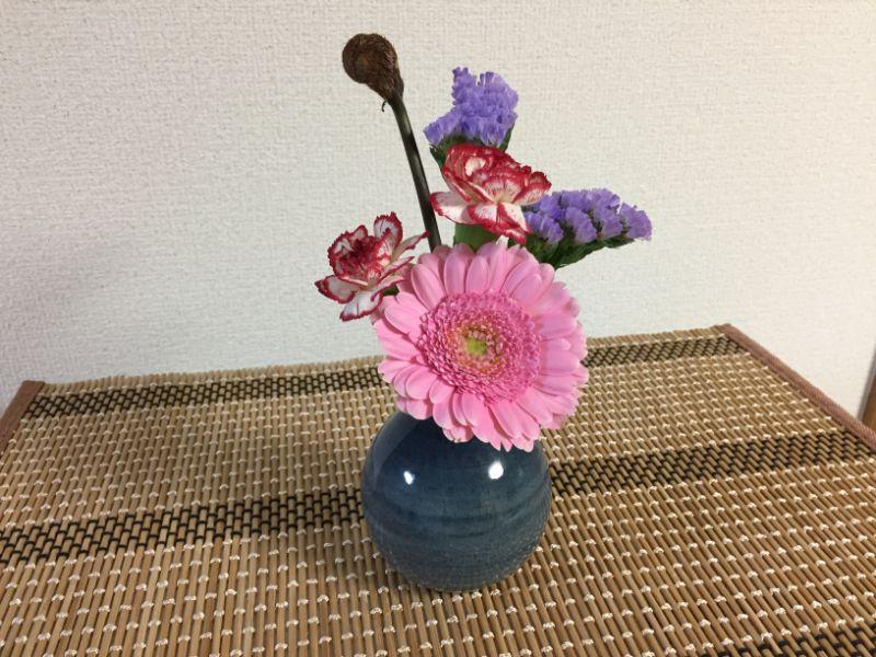 ブルーミーライフお花を飾ってみた