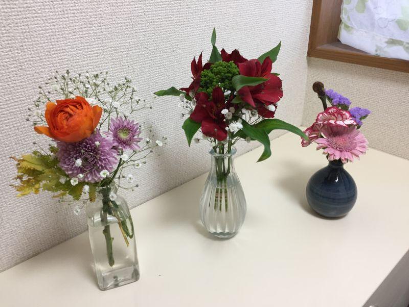BloomeeLIFEのお花:3週分まとめて