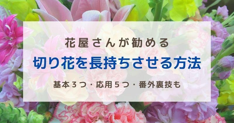 切り花を長持ちさせる方法まとめ|花屋さんが勧める基本3つ・応用5つ