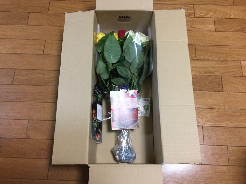 注文通り届いた産地直送のバラ