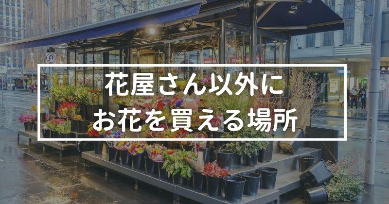 花屋さん以外にお花を買える場所