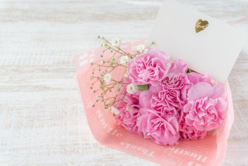 母の日のカーネーションの花束