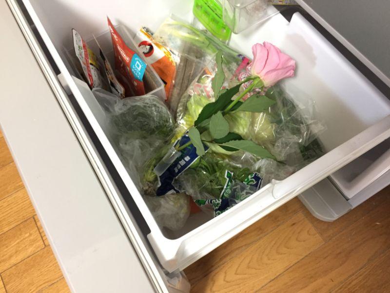 お花を冷蔵庫で保管する